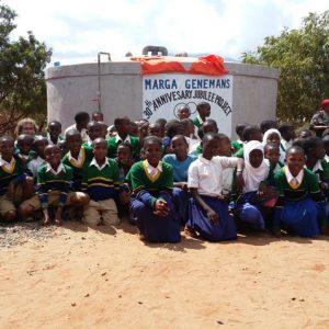 Watertank voor Majengo Primary School